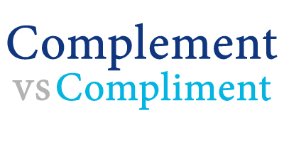 when do i use complimenting versus complementing