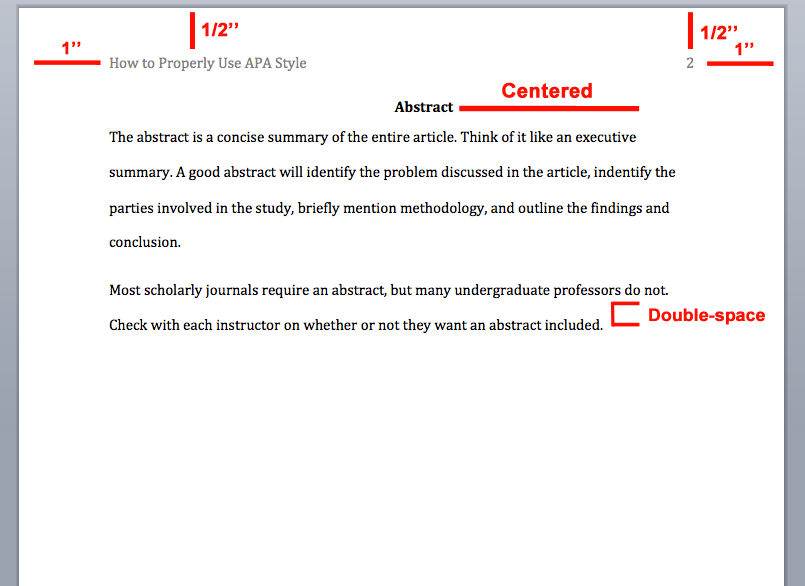 apa abstract page example