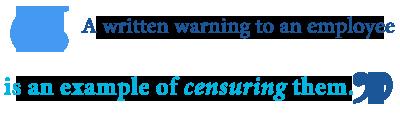 Define censure someone
