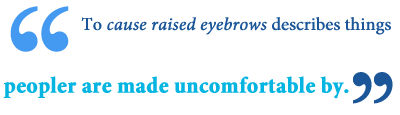 Meaning of raised eyebrow