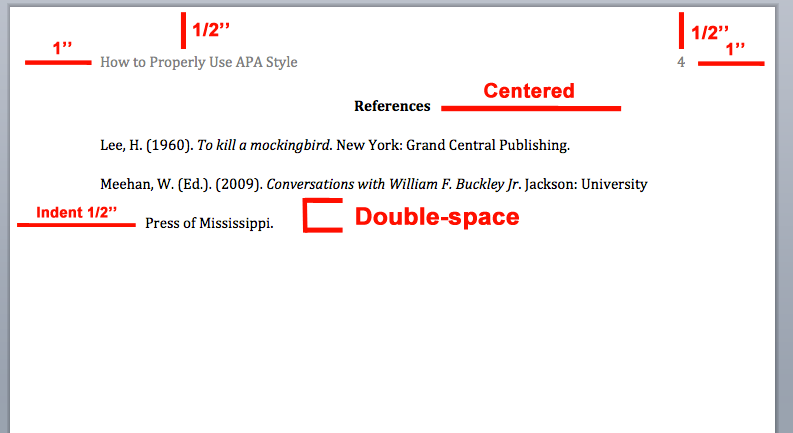is apa citation double spaced