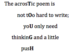 acrostic poem definition
