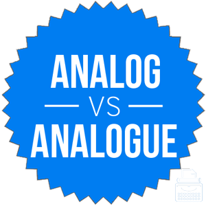 analog versus analogue