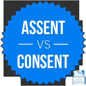 assent versus consent
