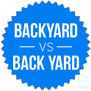 backyard versus back yard