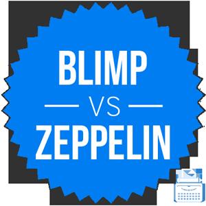 blimp versus zeppelin