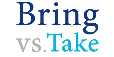 bring versus take