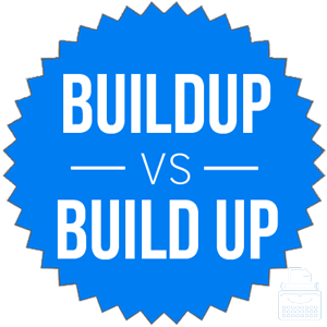 buildup versus build up