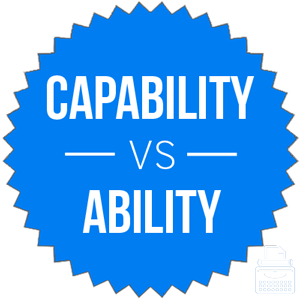 capability versus ability
