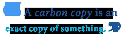 cc carbon copy