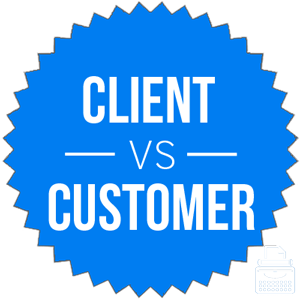 client versus customer