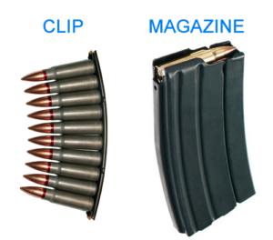 clip versus magazine