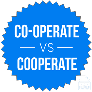 co-operate versus cooperate