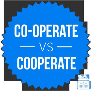 co-operate versus cooperate