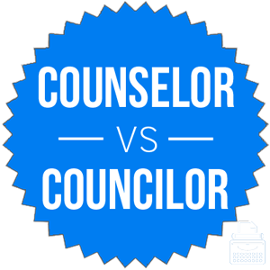 counselor versus councilor
