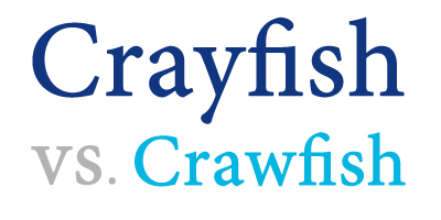 crayfish versus crawfish vs. crawdad
