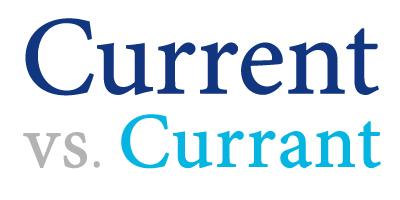 current versus currant