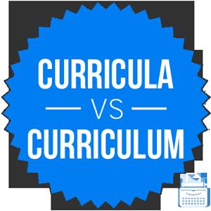 curricula versus curriculum