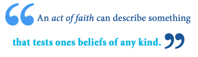 define act of faith