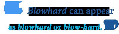 define blowhard
