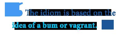 define bum around