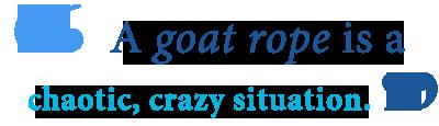 define goat roping
