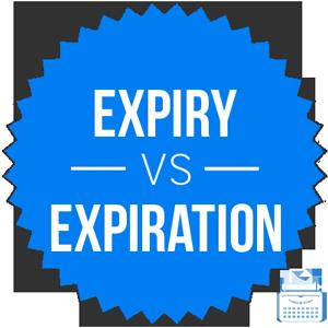 expiry versus expiration