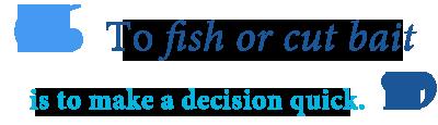 fish or cut bait idiom
