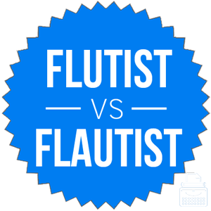 flutist versus flautist