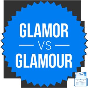 glamor versus glamour