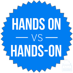 hands on versus hands-on