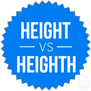 height versus heighth