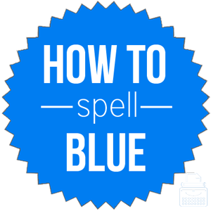 how to spell blue