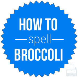 how to spell broccoli