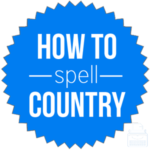 how to spell country