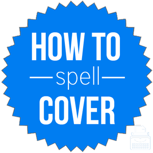 how to spell cover