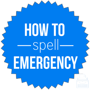 how to spell emergency
