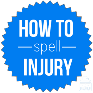 how to spell injury
