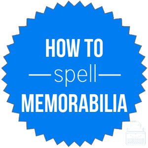 how to spell memorabilia