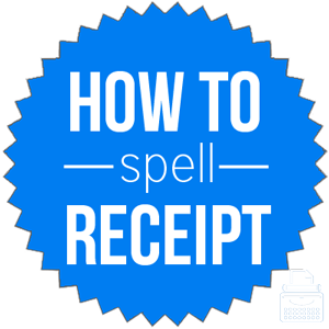 how to spell receipt