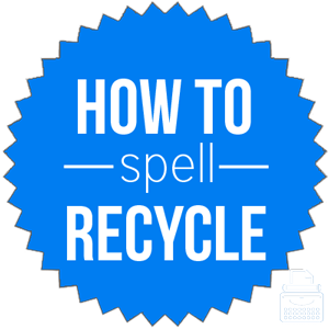 how to spell recycle