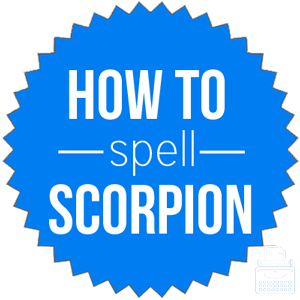 how to spell scorpion