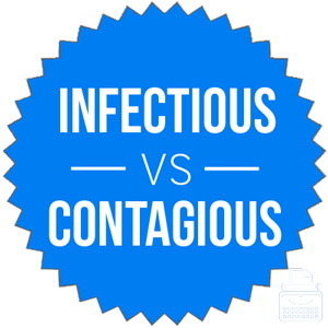 infectious versus contagious