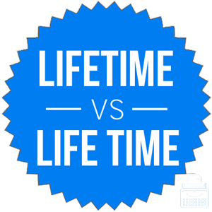 lifetime versus life time