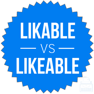 likeable versus likable
