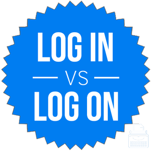 log in versus log on