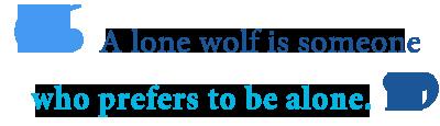 lone wolf definition