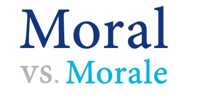 moral versus morale