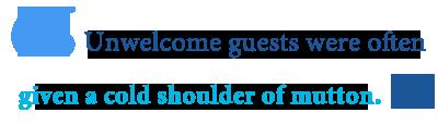 origin of cold shoulder