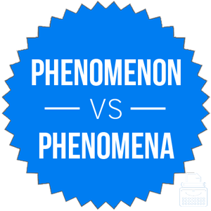 phenomenon versus phenomena